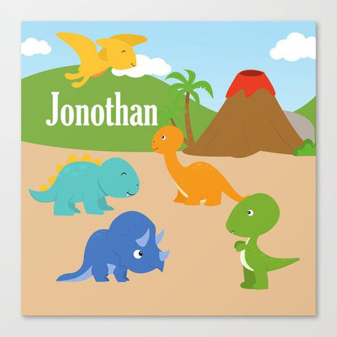 Dino Land Wall Art