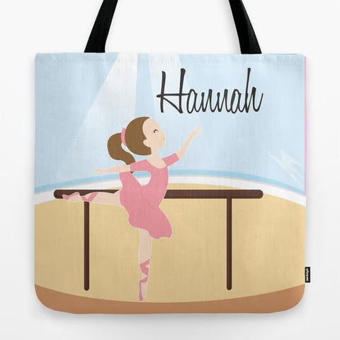 Ballerina Girl Tote Bag For Kids