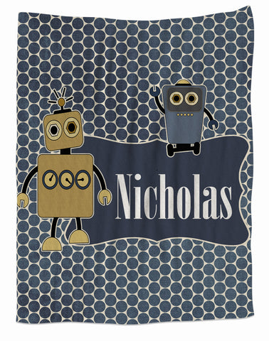 Robot Buddies Fleece Blanket
