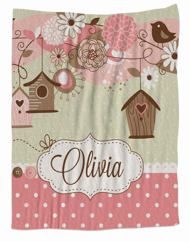 Birdhouse Personalized Blanket