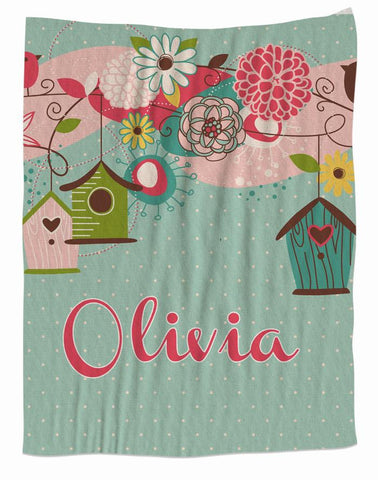 Beautiful Birdhouse Personalized Blanket