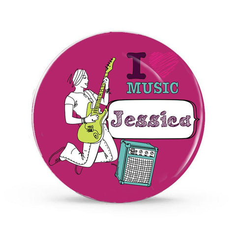 I Love Music - Personalized Melamine Plate - Style 181