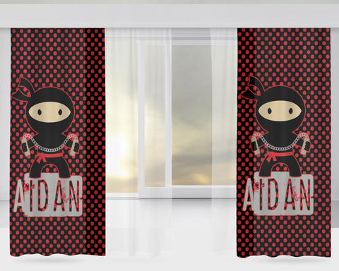Little Ninja Personalized Window Curtains