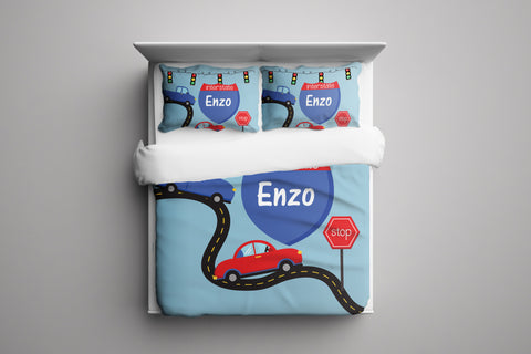 On The Road Personalized Bedding Set