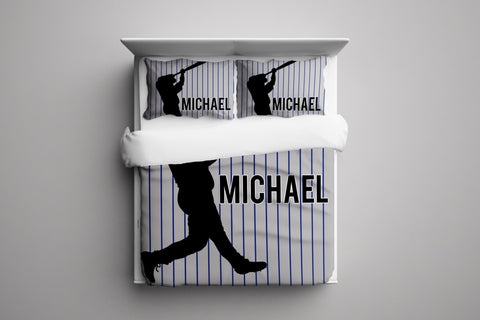 Baseball Player Personalized Bedding