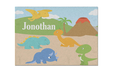 Donosaur Land Personalized Activity Rug