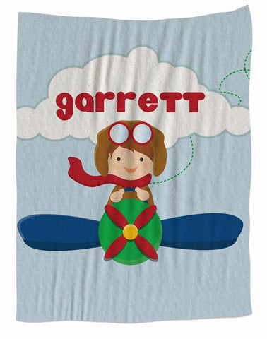 Little Aviator Fleece Blanket
