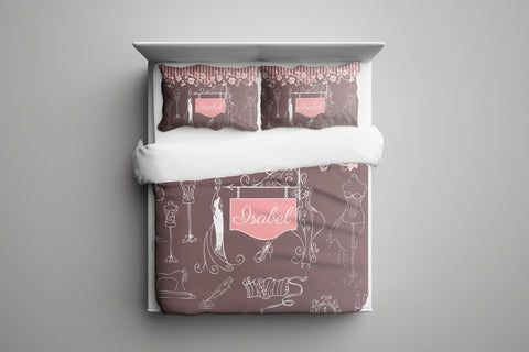 Fashion Week Personalized Bedding
