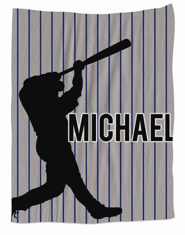 Baseball Personalized Fleece Blanket