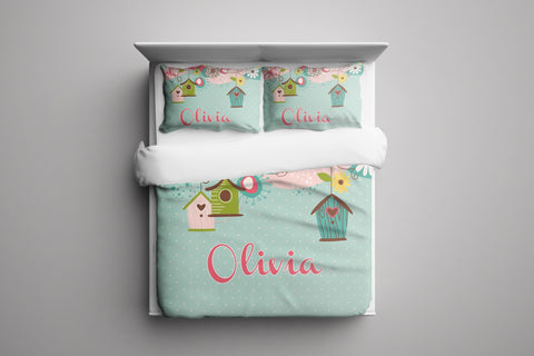 Beautiful Birdhouse Personalized Bedding