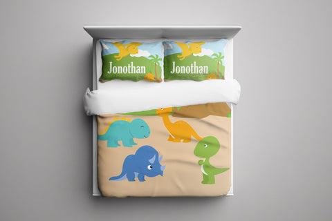 Dinosaur Land Bedding Set