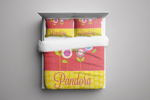 Bright Blossoms Personalized Bedding