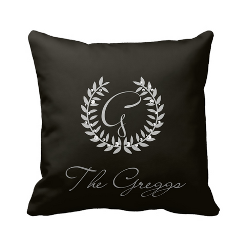 Black Family Crest Pillow