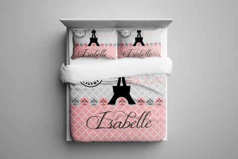 Eiffel Tower Personalized Bedding Set