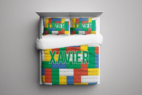Building Block Personalized Bedding