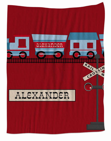 All Aboard Fleece Personalized Blanket