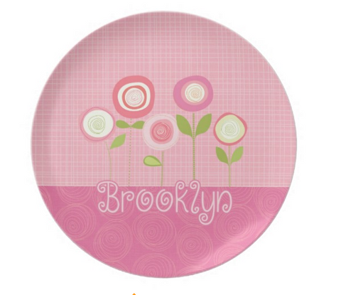 Bloomin' Beauties - Personalized Melamine Plate - Style 094