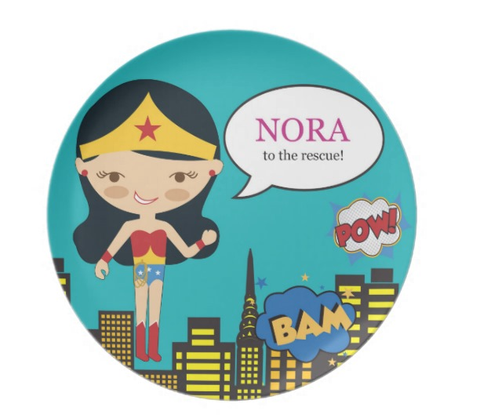 Wonder Girl Personalized Plate