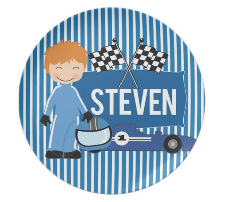 Start Your Engines II - Personalized Melamine Plate - Style 62