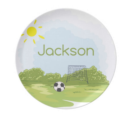 Soccer Field Personalized Plate