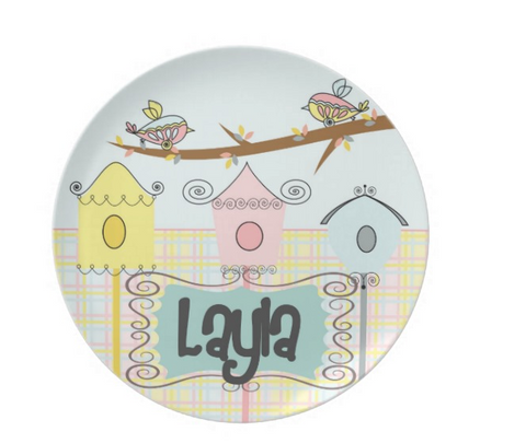 Birdhouse Personalized Plate