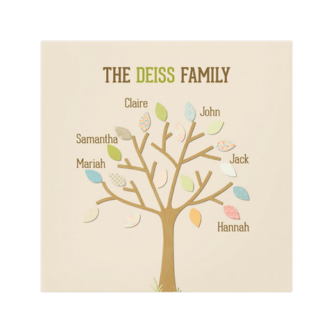 Tan Family Tree Wall Art