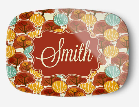 Fall Trees Personalized Platter