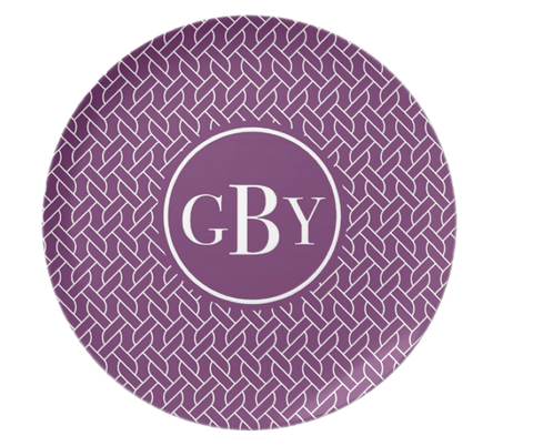 Purple Rope Monogram Plate