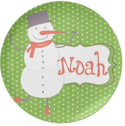 Happy Santa Holiday Personalized Plate