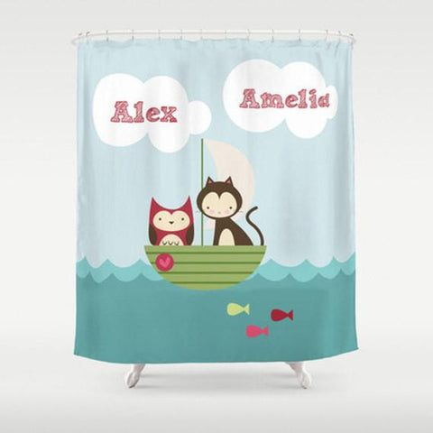Gone Fishing Personalized Shower Curtain