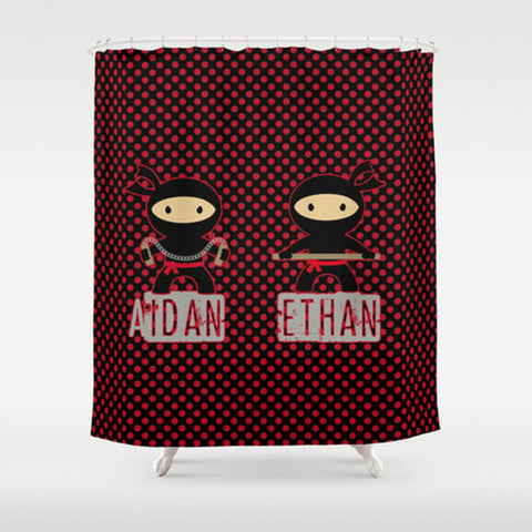 Ninjas   Personalized Shower Curtain