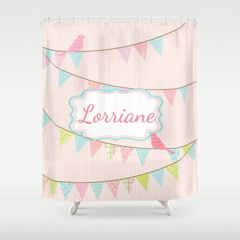 Bathtime Party Girl  Personalized Shower Curtain