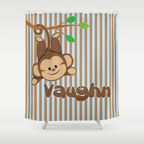 Monkey Boy  Personalized Shower Curtain