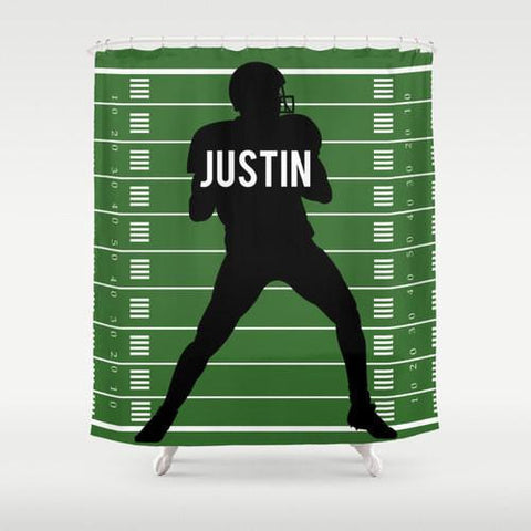 Football Star  Personalized Shower Curtain