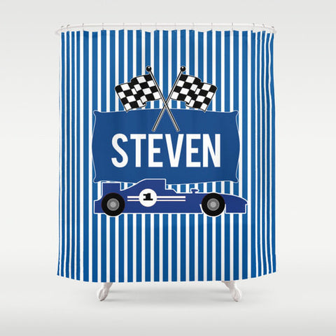 Nascar Race Personalized Shower Curtain