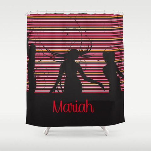 Love to Dance Personalized Shower Curtain