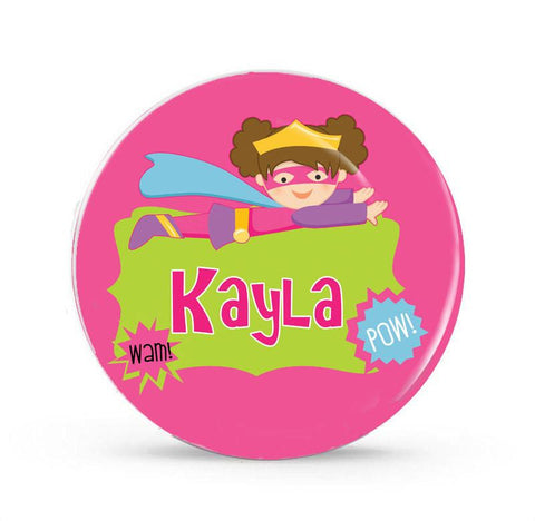Flying Super Girl - Personalized Melamine Plate - Style 076