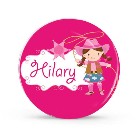 Cowgirl, Country Girl - Personalized Melamine Plate - Style 042