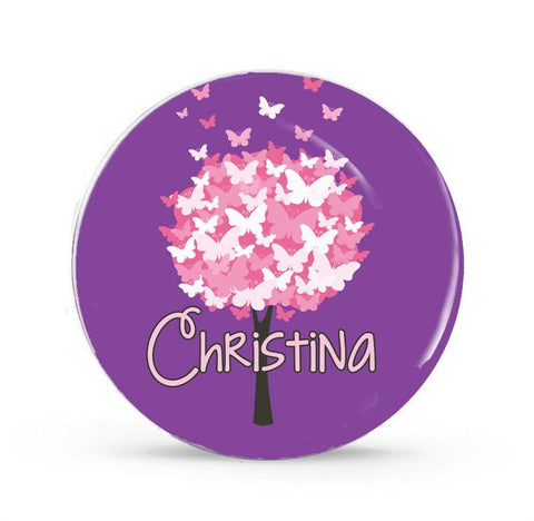 Butterlfy Tree - Personalized Melamine Plate - Style 072