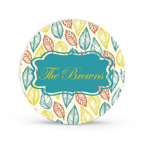 Colorful Leaves - Personalized Family Plate - Style 023