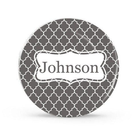 Diamond Stripe - Personalized Family Plate - Any  Color - Style 057