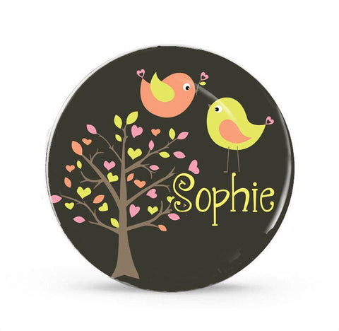 Citrus Birds - Personalized Melamine Plate - Style 073