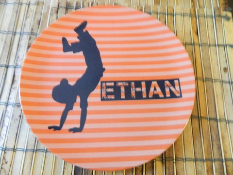 Handstand Boy, Handstand - Personalized Melamine Plate - Style 055