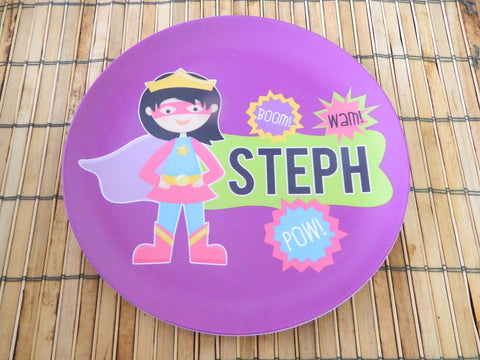 It's Amazing Girl - Personalized Melamine Plate - Style 075