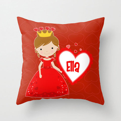 Pretty Princess Personalized Throw Pillow for Kids