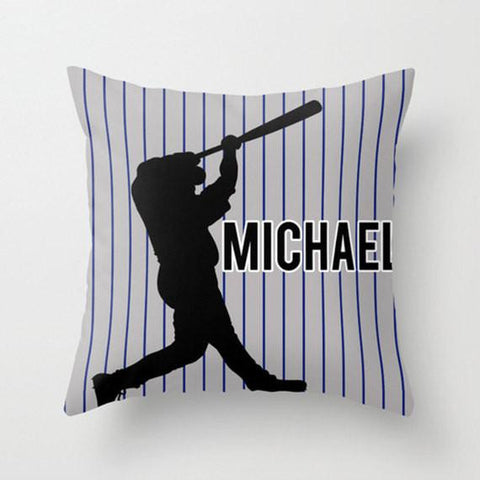 Homerun Personalized Throw Pillow for Kids