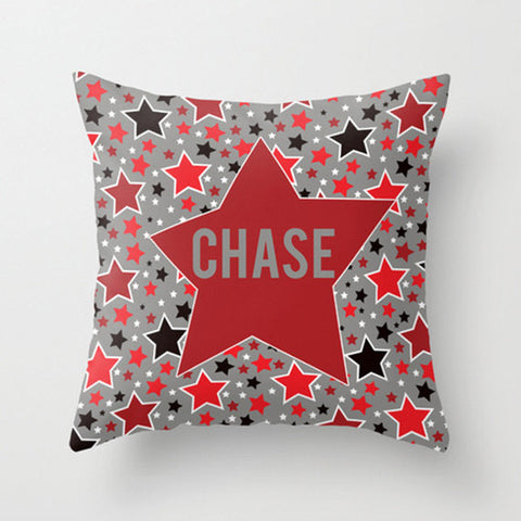 Super Star Boy Personalized Throw Pillow