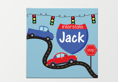 On The Road Again Personalized Kids Wall Art