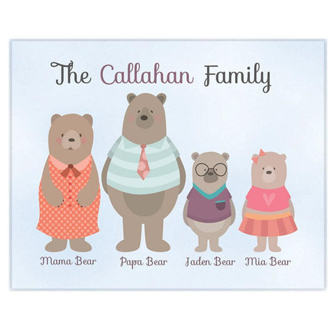 Family Personalized Kids Wall Art