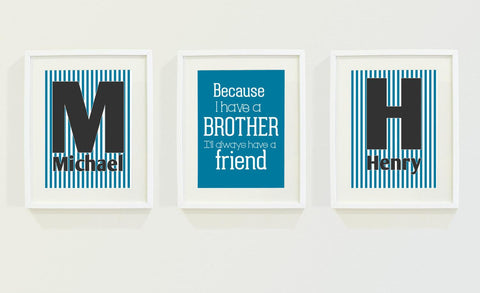 Brothers & Friends Personalized Kids Wall Art